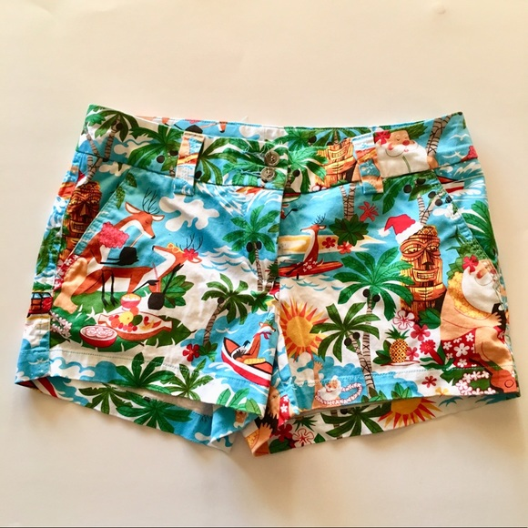 LOUDMOUTH GOLF Surfin Santa Womanu0027s Short, Size 4